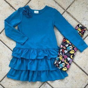 Girl 10, Hannah Andersson Dress w/ Bonus Leggings